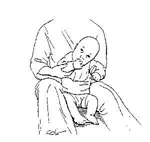 Hand to mouth exercise To assist child in the normal hand-to-mouth activity for sensory development. Done sitting (as pictured), or with child lying on side. The child should be relaxed. It is helpful to bend the hips and to bring the shoulders forward. Slowly bring hand to mouth - do not force. Desired Response With or without your assistance, child will be able to bring hand to mouth. Undesired Response Child will push back with shoulders or will react unpleasantly to having hand at the…