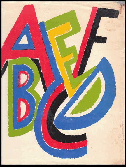 alphabet by Sonia Delauney
