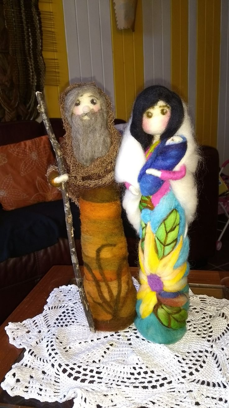 Sagrada familia en vellon agujado, #hechoamano #vellonagujado #vellonaschilhue, hecho por VELLONAS CHILHUE