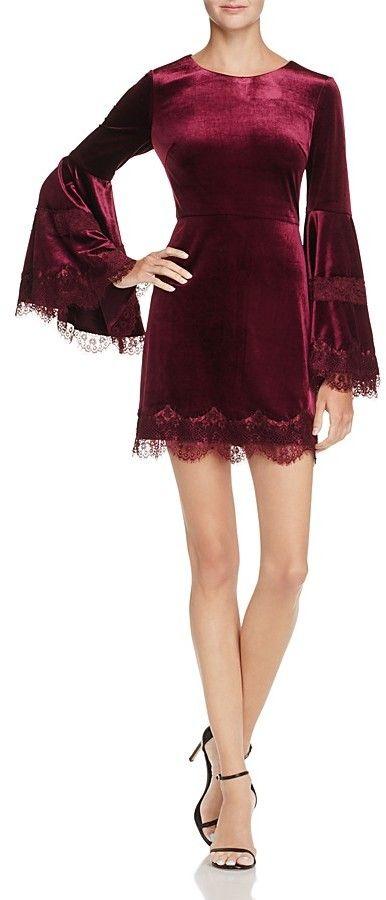 6600b1489b24 Aqua Bell-Sleeve Velvet & Lace Dress - 100% Exclusive | Products ...