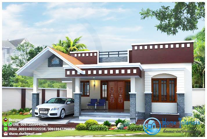Modern One Story Home With Roof Deck Pinoy Eplans Kerala House Design Single Floor House Design Small House Design