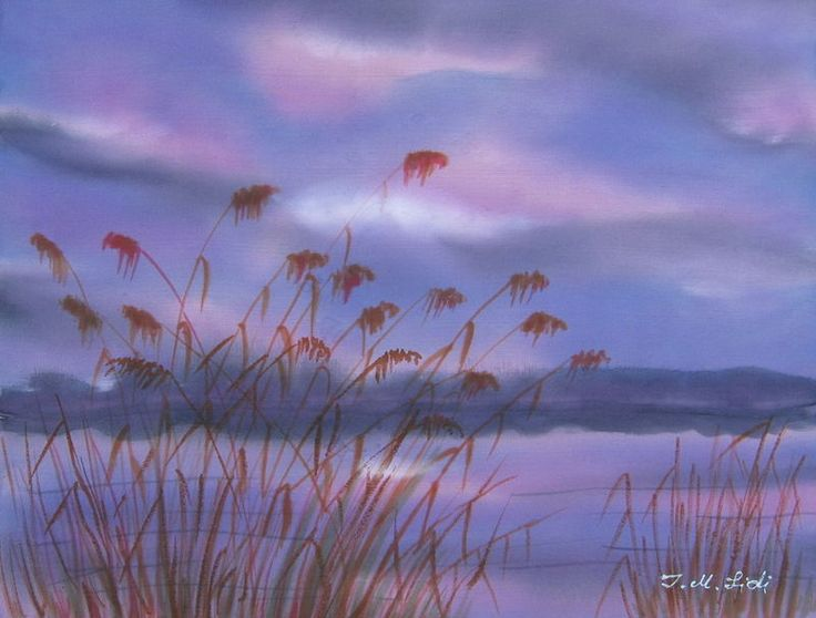 Storm on the lake - watercolor on silk 405x310 mm $400.00 Retail Price: $500.00 You Save: $100.00 (20%)  http://www.tripleclicks.com/15109879/detail.php?item=295698