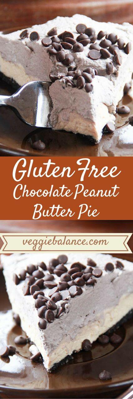 Gluten Free Peanut Butter Pie | http://www.VeggieBalance.com/gluten-free-peanut-butter-pie/