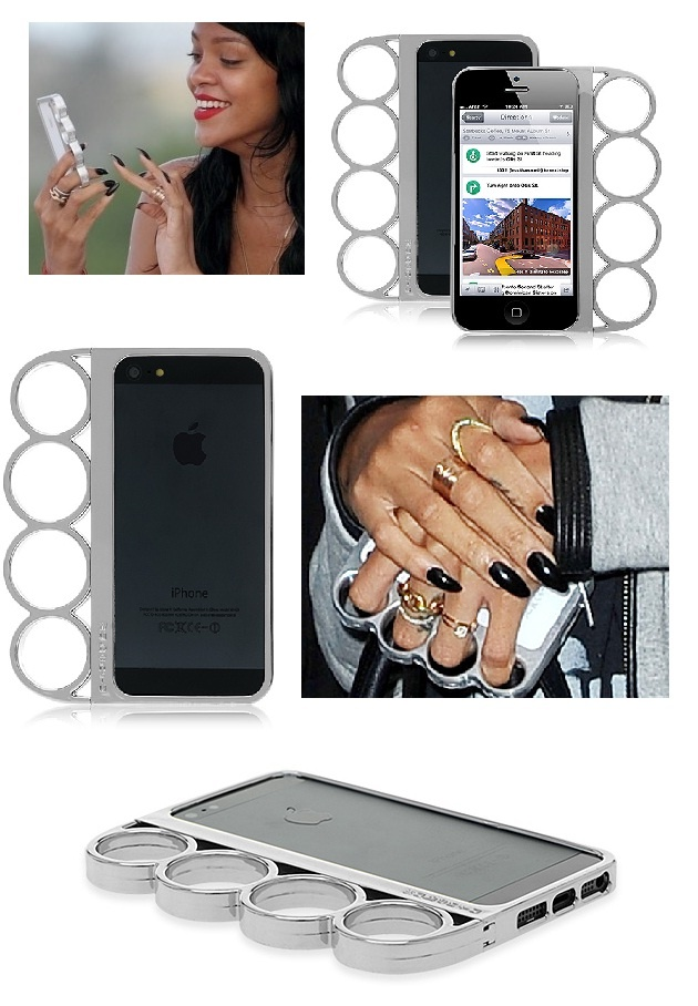 Famous Rihanna's iPhone4 4S Knuckleduster Silver Cover Case Vogue Knuckle Bumper By Cellz #cellz.com #rihanna #Knuckleduster #iphone5 #case #famous #singer #lucury #cover $6.43
