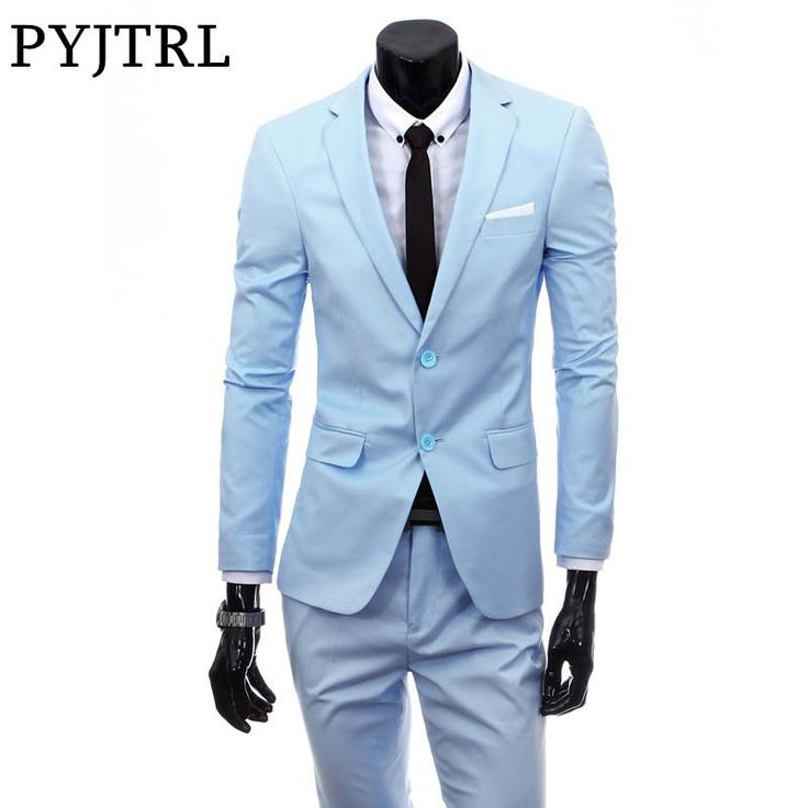 Latest Jacket  Pants Men Fashion Slim Business Suits Groom Wedding Coat Design Tuxedo
