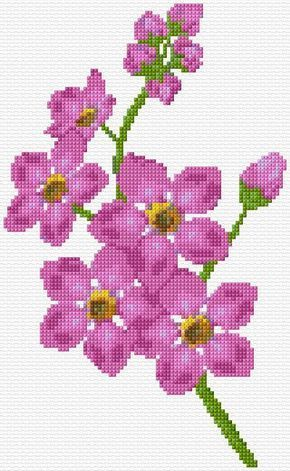 Cross Stitch | Flowers xstitch Chart | Design