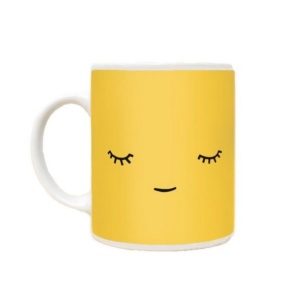 Yellow Face Mug by Paparajote. Imagine contentedly sipping your tea from this gorgeous and super cool mug designed by Paparajote. In bright uplifting yellow, this calm and cute little chappie, will bring a smile to your face every time you use him. A lovely, happy present for someone special. Comes boxed. £10.99