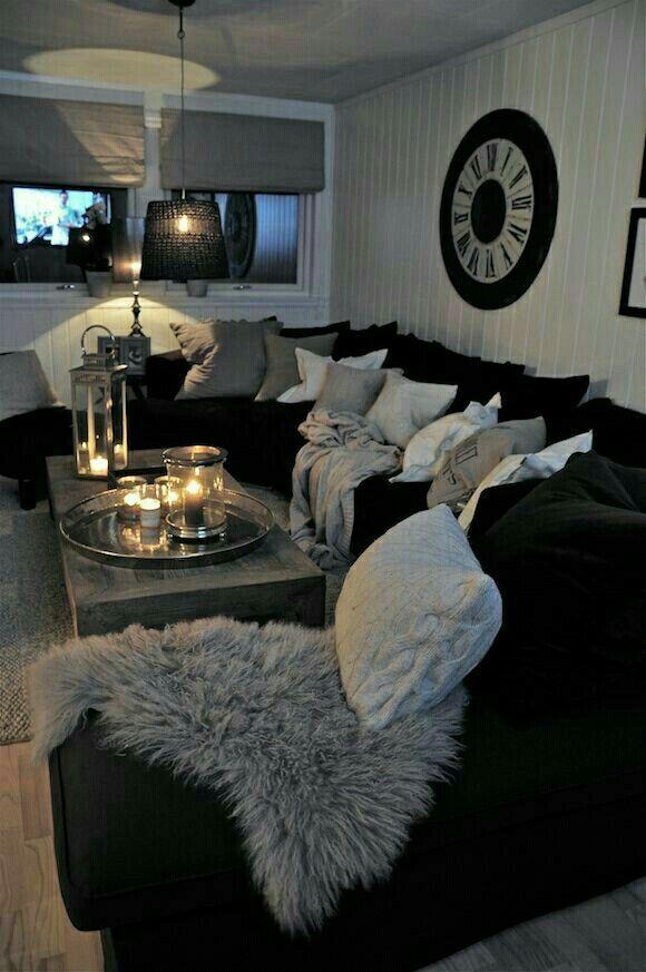 Sala De Estar Sofa Preto ~ 1000+ ideas about Black Couches on Pinterest  Couch, Black Leather