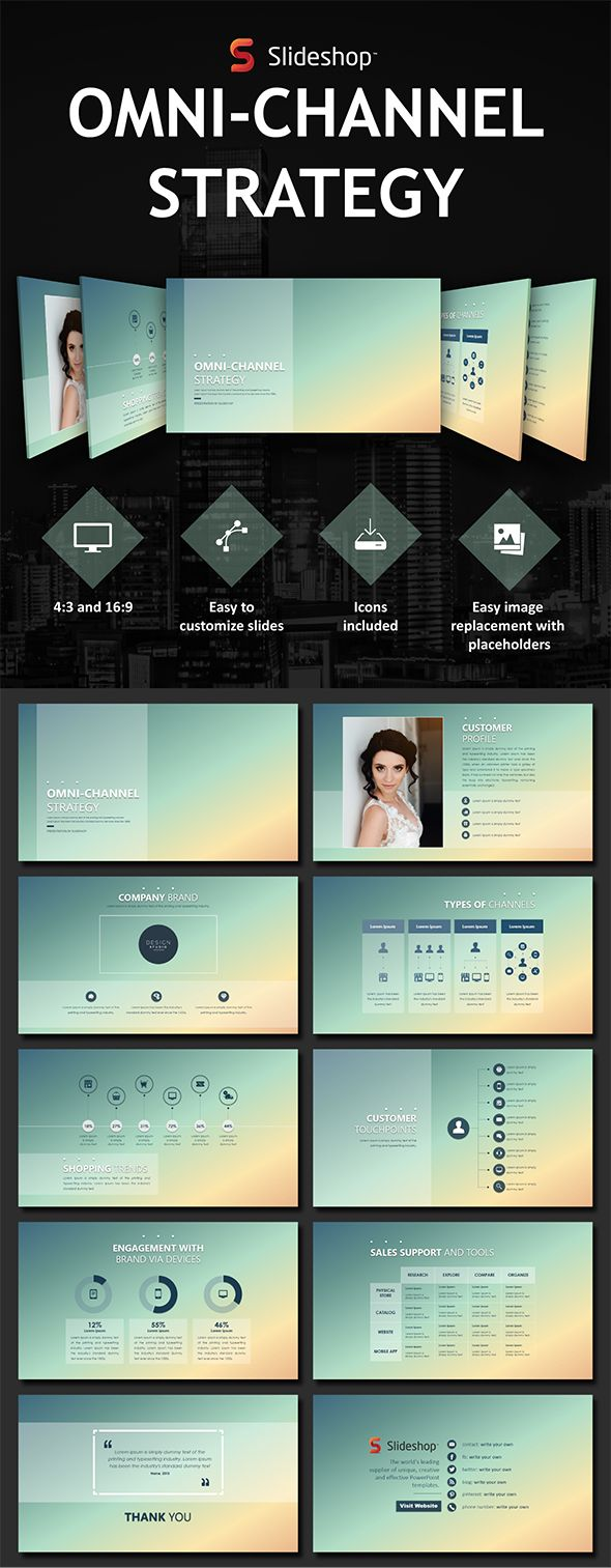 Omni Channel Strategy - #PowerPoint #Templates #Presentation Templates Download here: https://graphicriver.net/item/omni-channel-strategy/19760132?ref=alena994