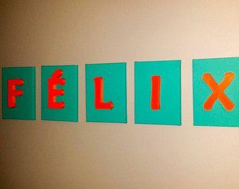 Wall Letter on canevas - Lettre sur toile pour affichage sur les murs - Modifier la fiche - Etsy