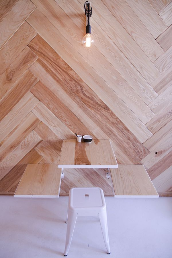 Chevron wood wall / Nicholas Christowitz