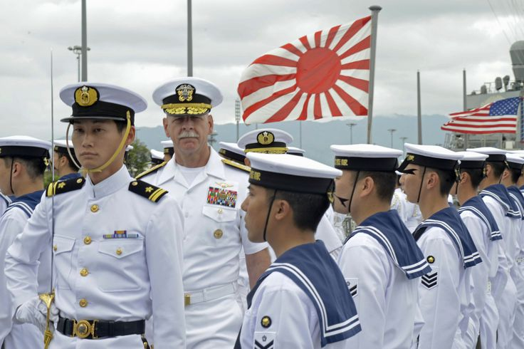 160601-N-RJ834-029 | PEARL HARBOR, Hawaii (June 1, 2016) Adm. Scott Swift, commander of U.S. Pacific Fleet, inspects Japan Maritime Self-Defense Force sailors assigned to the training vessel JS Kashima (TV 3508) honor guard detail. Kashima is joined by Asagiri-class destroyer JS Asagiri (DD 151) and training vessel JS Setoyuki (TV 3518) for a scheduled port visit. While in Hawaii, the sailors will participate in various professional exchanges, social events and off...