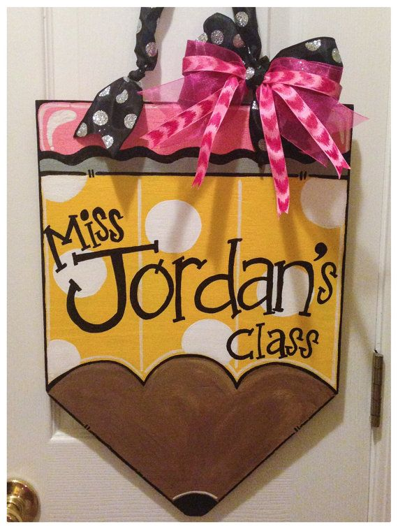 Pencil+Door+Hanger+by+GoodnessGraciouss+on+Etsy,+$30.00