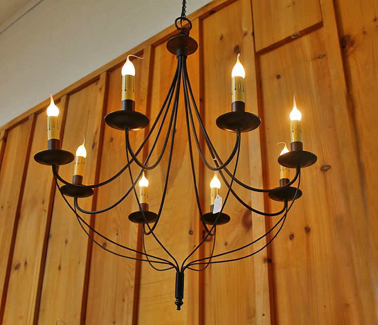 Black Metal Chandelier with 8 Lights