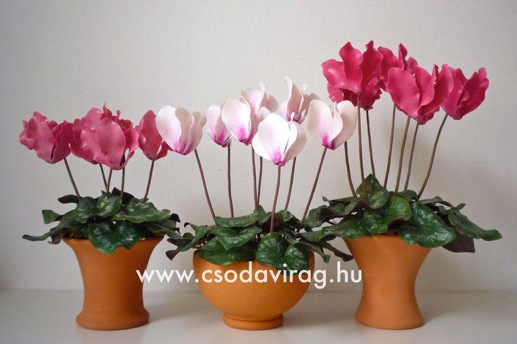 Cyclamen (Ciklámen) - My clay flower https://www.facebook.com/Csodavirag