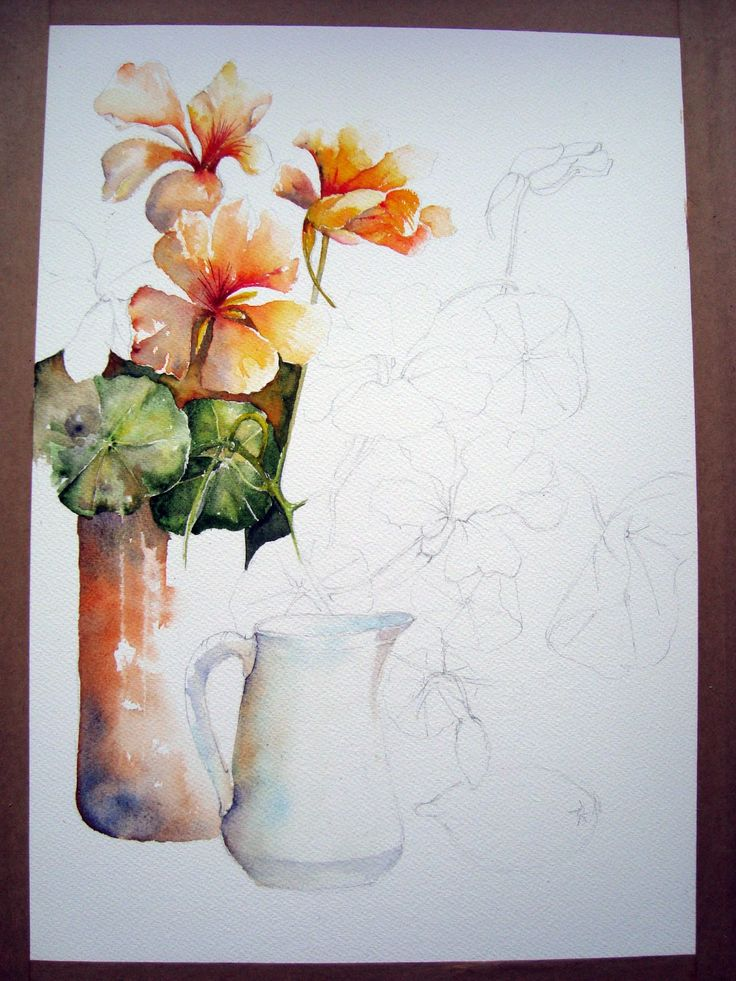 1436 best art watercolor flowers images on pinterest