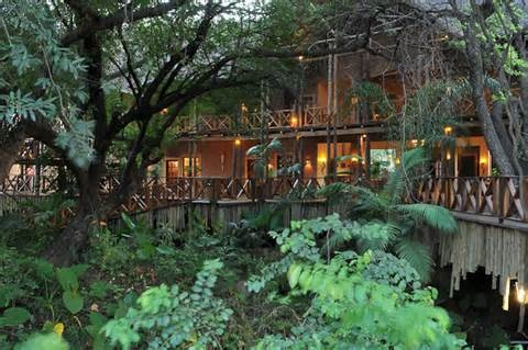 Lodge at the centre of Wild world in South Africa Chobe Marina Lodge