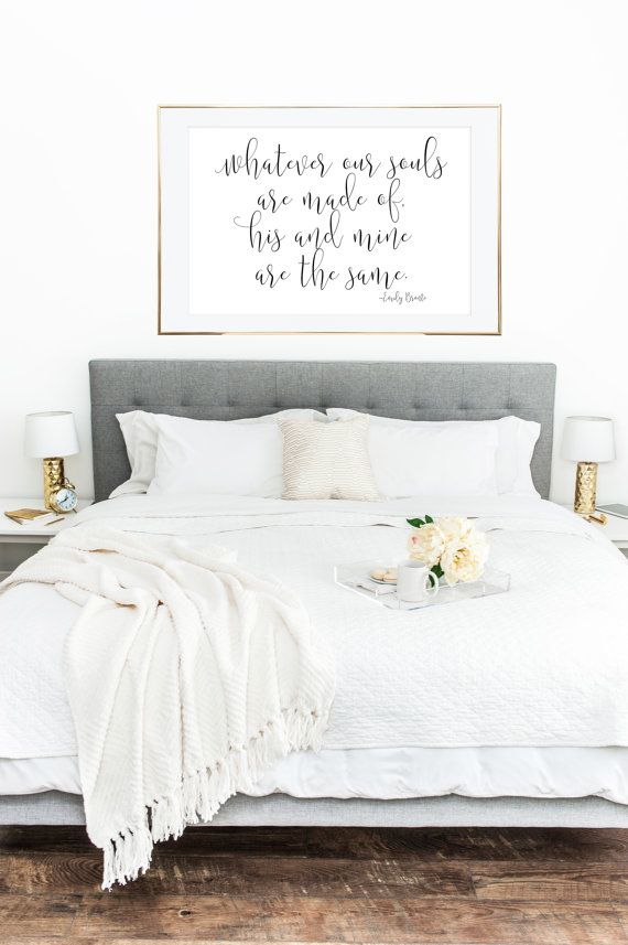 PRINTABLE WALL ART Whatever Our Souls Are Made by LuminousPrints