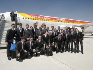 España en el aeropuerto rumbo a Polonia