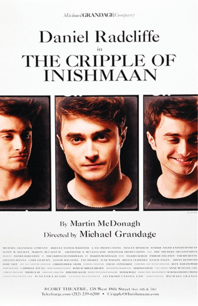 The Cripple of Inishmaan starring Daniel Radcliffe Broadway Poster