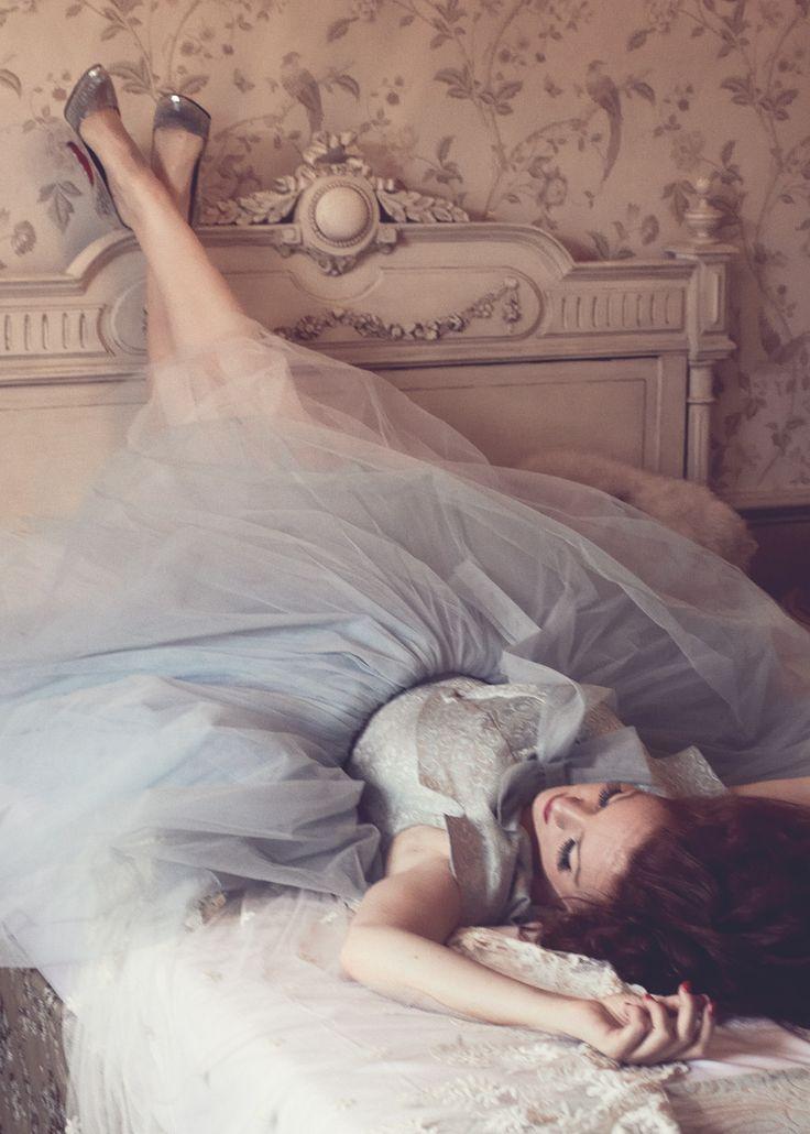 Christine Mac, Vintage, London, Tule Dress, Louboutins, http://www.thefabuloustimes.com/