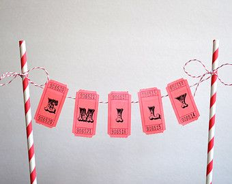 Personalized Cake Bunting Banner / Cake Topper / by HouseOfMark