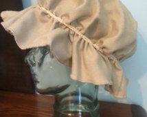 Mob Cap Hat, One size fits most - Solid Taupe