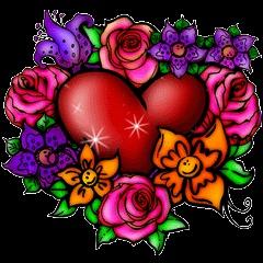 Floral Burst Heart
