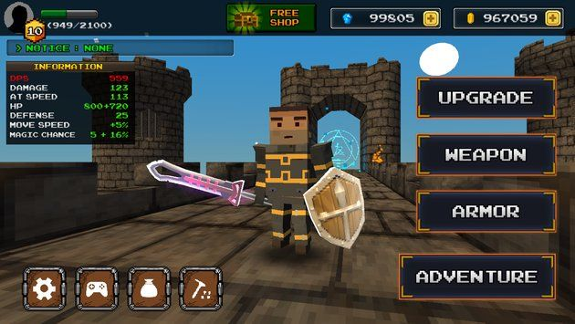The description of Pixel F Blade - Action Rpg  pixel style graphics action rpg game have been released. You are the last hero in PIXEL WORLD. Let's collect the weapons by hunting monsters in the dungeon Save the world!  ◈ quick action and a variety of skills! ◈ mine system which can obtain the gem (free) ◈ various weapon skill! ◈ various weapons and equipment upgrade system ◈ weapon advance system When you buy a in-app advertising does not come out anymore. This game that dont need wifi and…