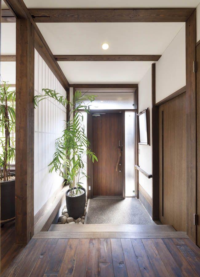 土間収納を設けた玄関