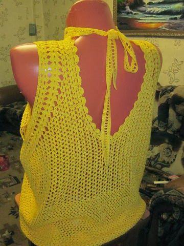 CARAMELO DE CROCHET: una blusa especial