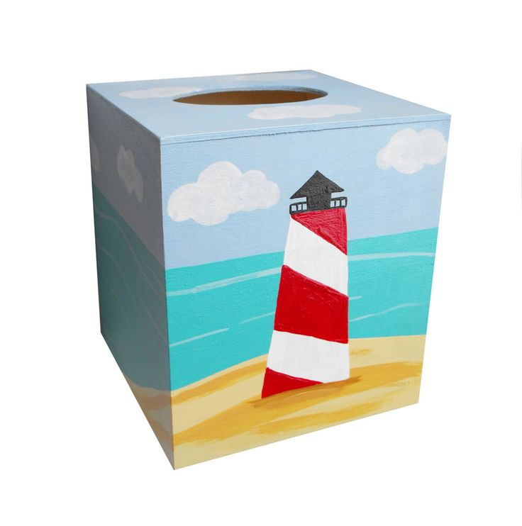 103 best images about beach ideas on pinterest - Beach themed tissue box cover ...