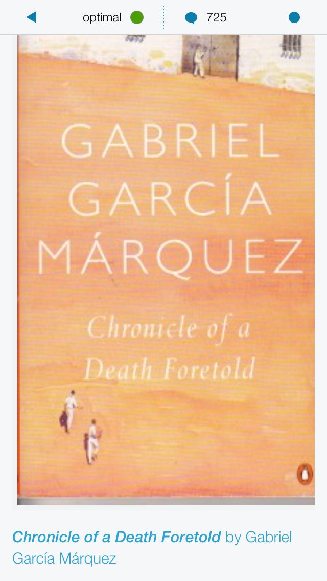 a review of a chronicle of a death fortold a story by gabriel garcia marquez Gabriel garcia marquez's novel, chronicle of a death foretold, is a hybrid of literary genres, at once a journalistic account of a historical murder that took place in sucre, columbia, a psychological detective story, and a work of allegorical fictionon january 22, 1951, two brothers in the chica family murdered cayetano gentile chimento.