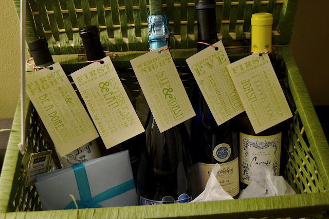 """special moments"" wine basket - bridal shower / engagement party gift idea"