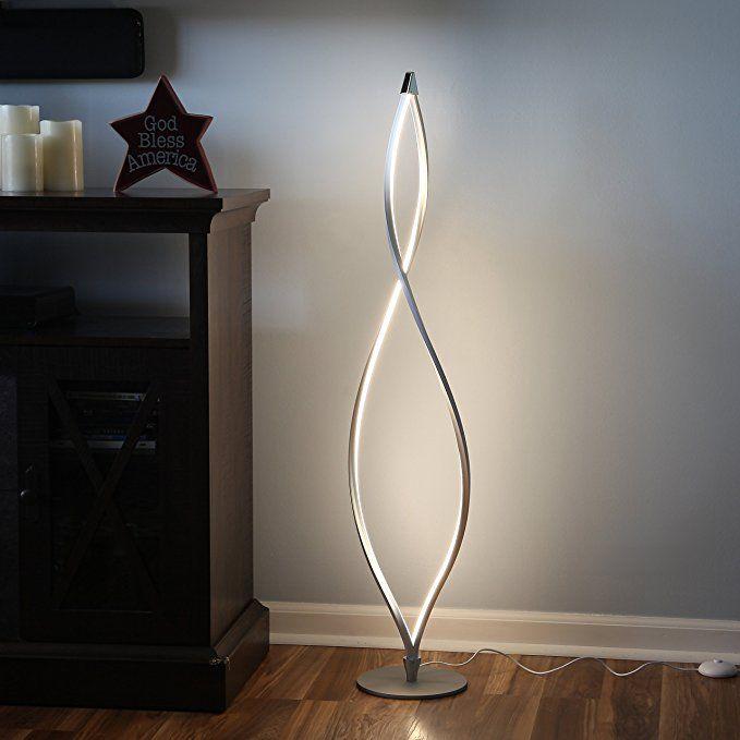 Brightech Twist Modern Led Living Room Floor Lamp Bright