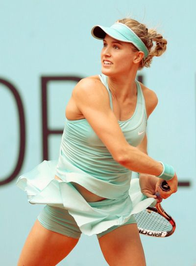 steffi-graf: Eugenie Bouchard // Mutua Madrid Open 2015