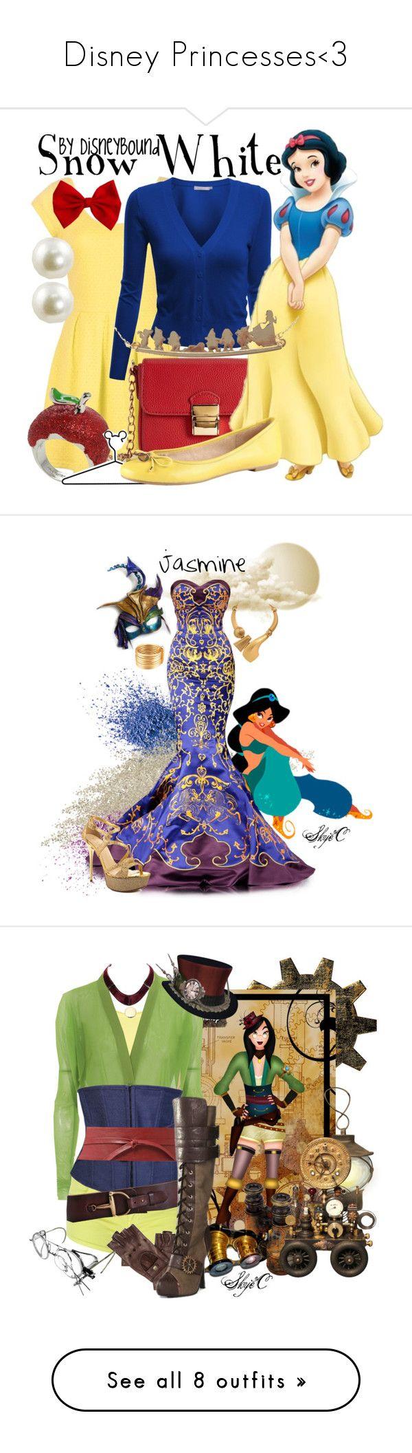 """Disney Princesses<3"" by rael01 ❤ liked on Polyvore featuring Doublju, Forever 21, Disney, ALDO, Meli Melo, Napoleon Perdis, Monies, Masquerade, GUESS and Vila Milano"