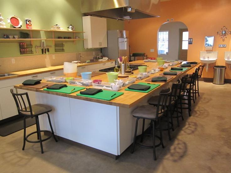 Classroom Kitchen Design ~ Best new cooking school kitchen images on pinterest