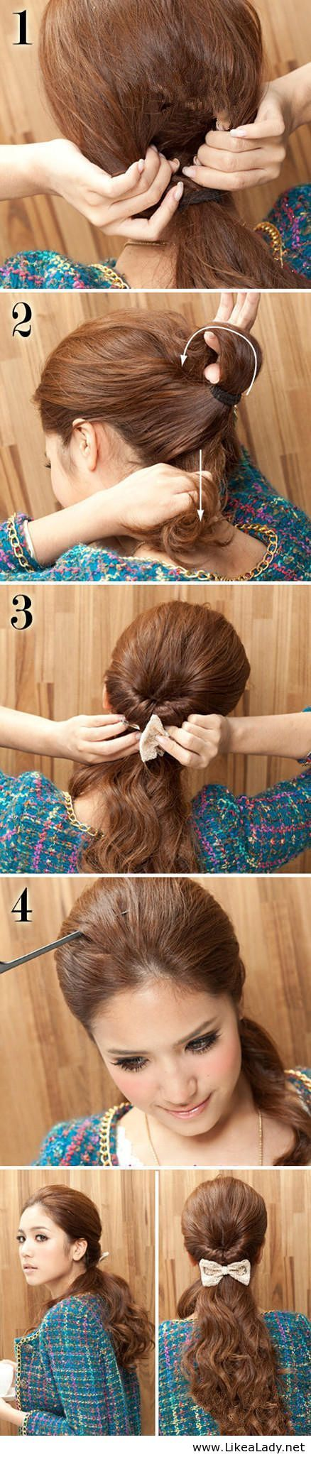 Tie a beautiful ponytail