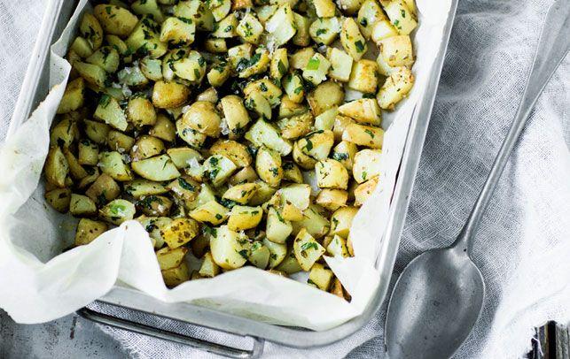 Sprøde kartoffel-croutoner