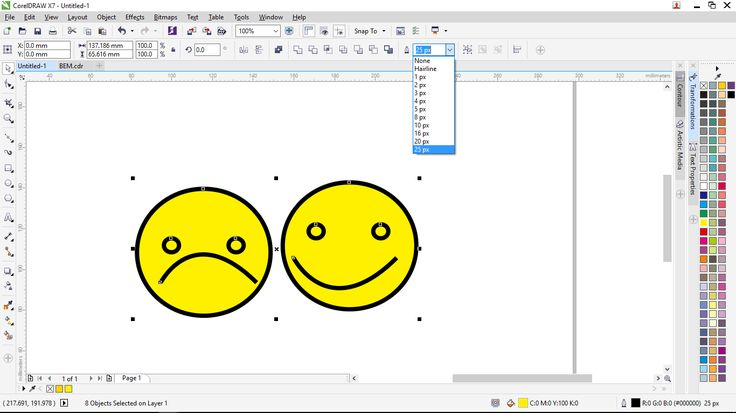 Coreldraw tutorials membuat outline sesuai dengan skala object - Gayeng
