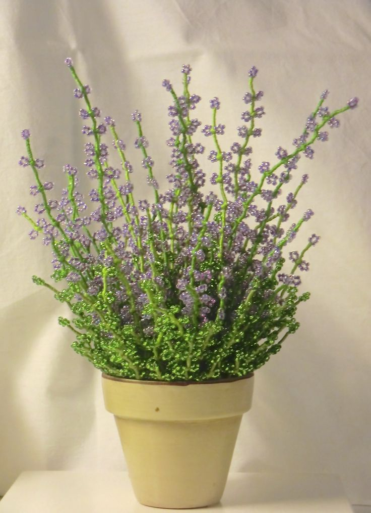 Beads made heather plant