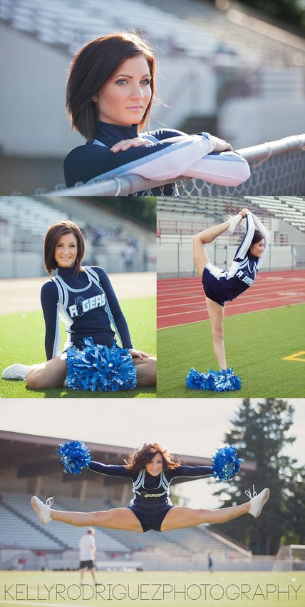 Cheerleading Photography, cheer photos, senior portraits, Puyallup WA portrait photographer Kelly Rodriguez Photography