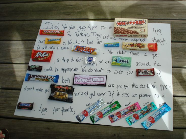 candy bar birthday card | John's Father's Day card from ...