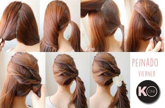 #Viernes para lucir más hermosas!!! KeraOne les recomienda este peinado fácil y sencillo