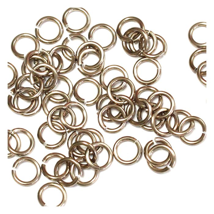 5mm (3/16 Inch) Champagne Anodized Aluminum Jump Rings
