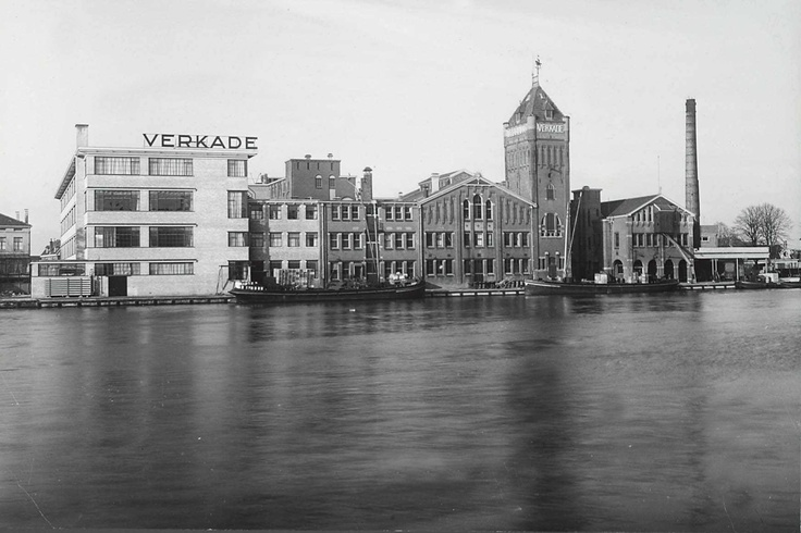 Old picture of the Verkade (cookies and chocolate) Factory in Zaandam, the Netherlands