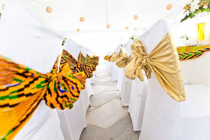 KENTE FABRIC DECOR – AFRICAN WEDDING INSPIRATION BY JANDEL LTD GHANA