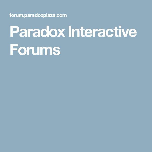Paradox Interactive Forums