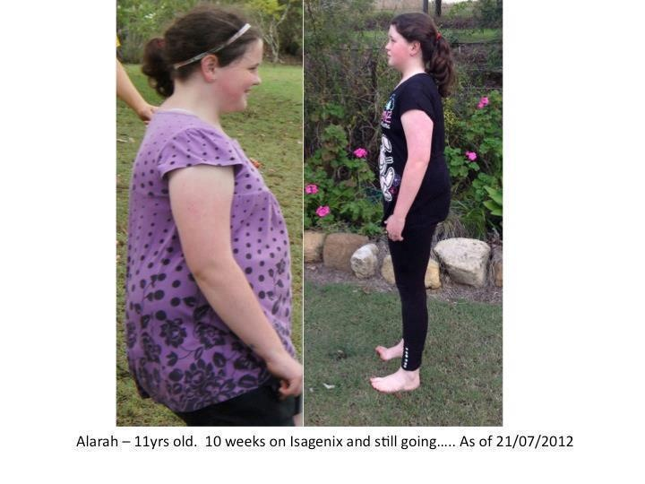 Isagenix is for the whole family!!  Look at the amazing difference in Alarah...SOO much healthier now!!